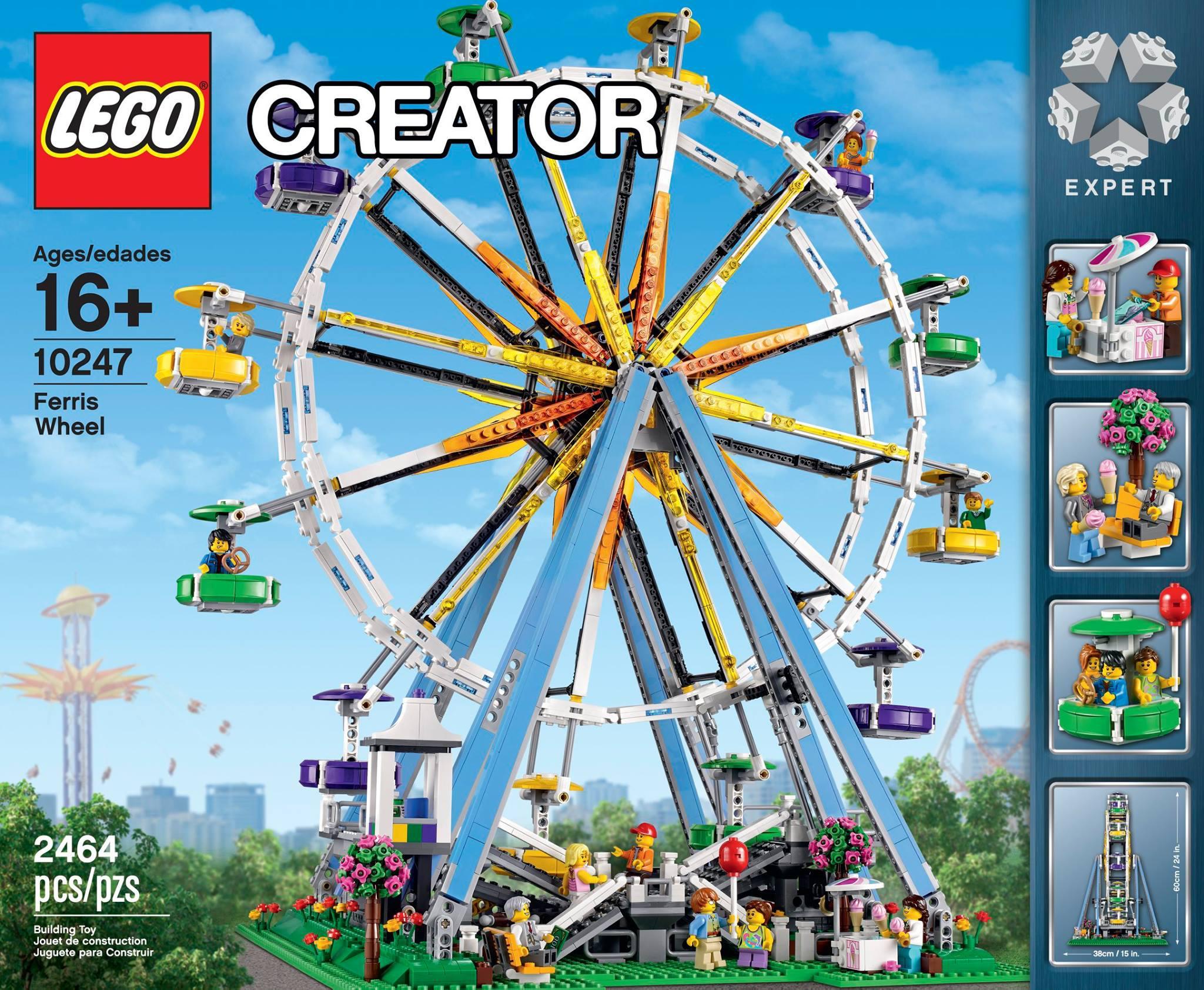 lego creator ferris wheel 10247 lego news brickpicker. Black Bedroom Furniture Sets. Home Design Ideas