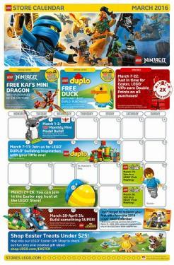 LEGO March 2016 US Event Calendar News