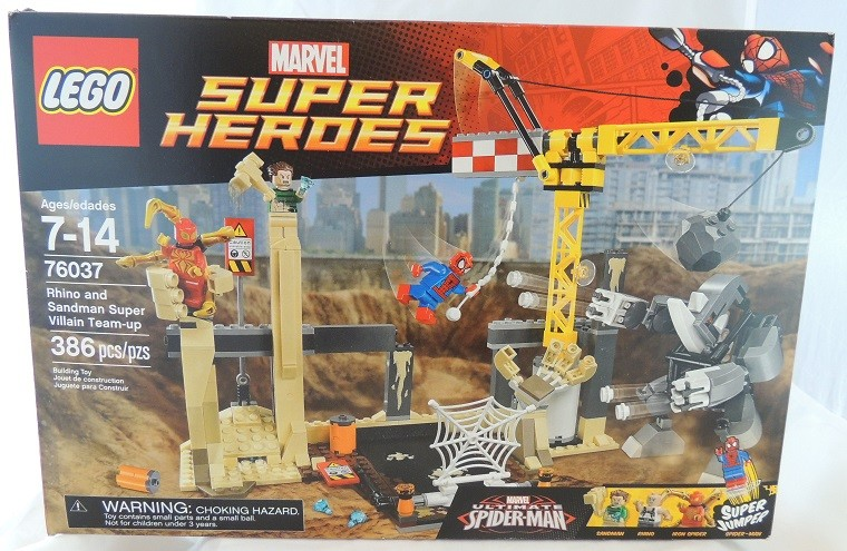 OUTSIDE THE BOX LEGO REVIEW: Marvel Super Heroes Rhino and Sandman Supervillain Team-up #76037