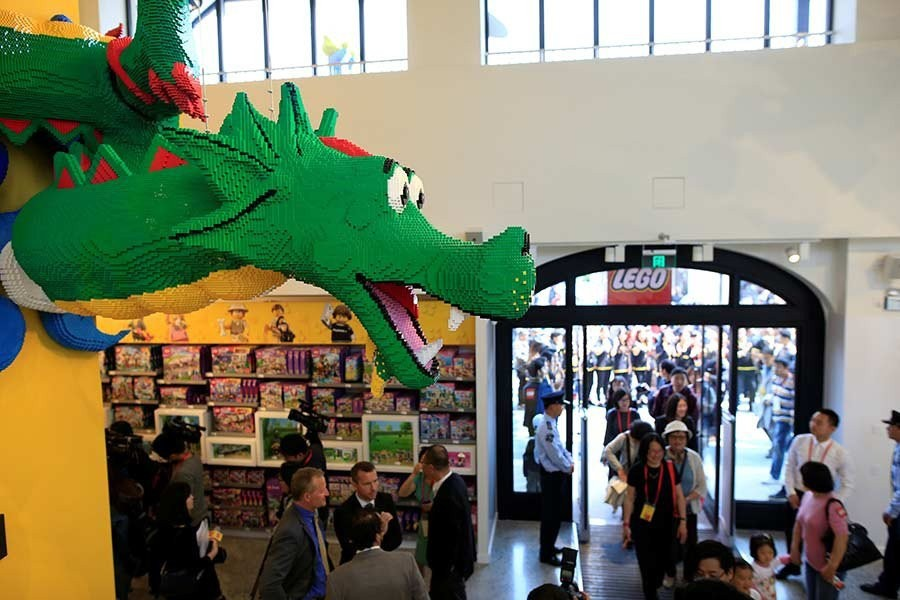 World's largest LEGO store opens in Shanghai, China