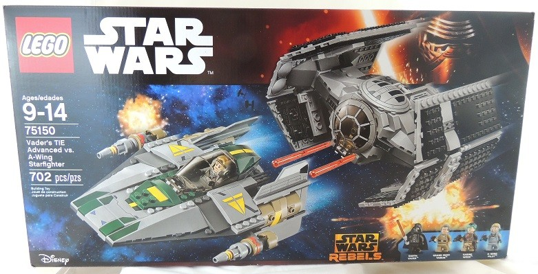 LEGO REVIEW: Star Wars Vader's TIE Advanced vs. A-Wing Starfighter #75150